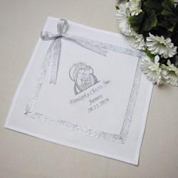 Szatka bawełniana z haftem Matka Boska z dzieciątkiem