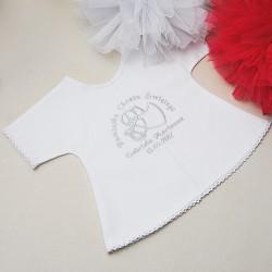 Szatka bawełniana, koszulka z bawełnianą koronką